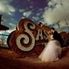 Neon Graveyard:  Electrifying Wedding Photos in the Las Vegas Boneyard