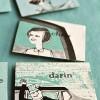 DIY Vintage Escort Card Fridge Magnets