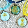 DIY Dried Flower Pendant