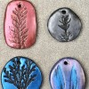 DIY Stamped Clay Botanical Pendants