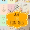 25 Free Wedding Printables