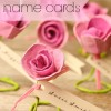 Paper Roses: DIY Escort Cards