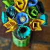 DIY Centerpieces Made Out of Egg Cartons and Vintage Buttons
