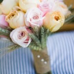 DIY Fall Bouquet: Wheat and Roses
