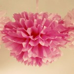Tissue Paper Pom Poms: DIY Wedding Decor