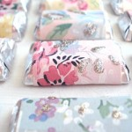 DIY Candy Bar Wrappers Made from Wallpaper