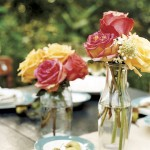 Vintage Bottles as Flower Vases