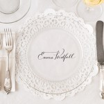 DIY Place Cards from Doilies