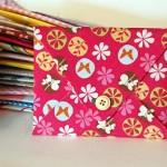 DIY Invites in Fabric Envelopes