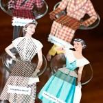 Vintage Fashion Illustrations: DIY Place Card Dolls