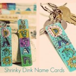 DIY Name Cards Made from Shrinky Dinks