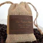 DIY Wedding Coffee Bean Favor Bags with Free Printable Labels