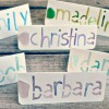 DIY Sea Glass and Watercolor Name Cards