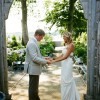 Real Wedding: Melissa and Hans' Greenhouse Wedding