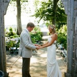 Real Wedding: Melissa and Hans' Greenhouse Wedding