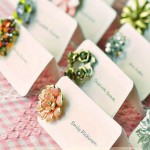 DIY Vintage Brooch Escort Cards