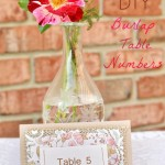DIY Burlap Table Numbers