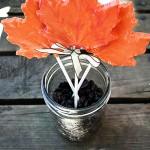 DIY Chocolate Maple Leaf Lollipop Favors