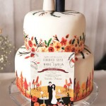 Paint it Pretty: Hand Painted Wedding Cakes