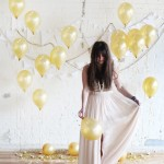 Wedding Trends: Gold Balloons