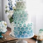 11 Amazing Geometric and Mosaic Wedding Cakes