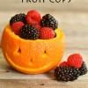 DIY Jack O' Lantern Fruit Cups