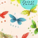 DIY Escort Cards: Easy Paper Butterflies