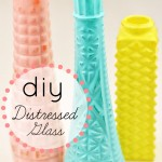 DIY Wedding Ideas: Easy Distressed Glass