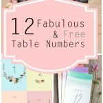 12 Free Printable Table Numbers