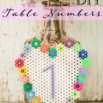 DIY Fused Bead Table Numbers