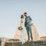 Yelena and Liam's Courtyard Crete Wedding