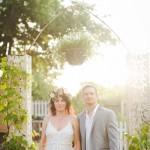 Thomas and Sara's Secret Backyard Texas Wedding Ceremony