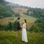 Olenka and Mykola's $4,000 Chalet Wedding