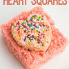 DIY Rice Krispie Heart Squares