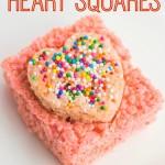 DIY Rice Krispie Heart Squares