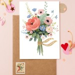 8 Bridesmaid Cards Featuring Stunning Floral Illustrations