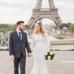 Jacqueline & Mike's Modern Minimalist Eiffel Tower Elopement