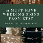 12 Must-Have Wedding Signs From Etsy