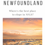 Where is the Best Location to Elope in Newfoundland?