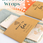 DIY Beeswax Wraps with Free Printable + Editable Favor Labels