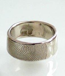 fingerprintbandshers looking for a unique wedding ring