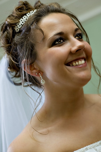 Outdoor bride closeup in Texas. Photo by Treva Tribit