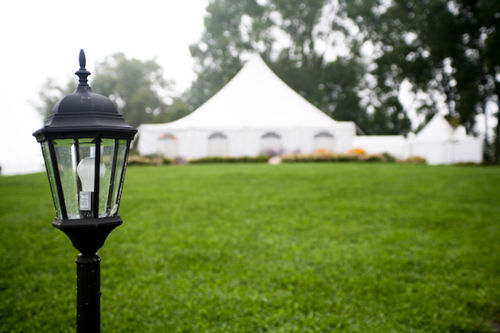 outdoor reception tent - backyard wedding