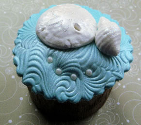 beach cupcake nautical theme wedding