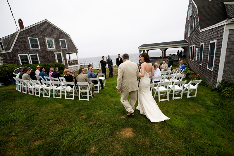 Driftwood Inn Outdoor Ceremony in Maine