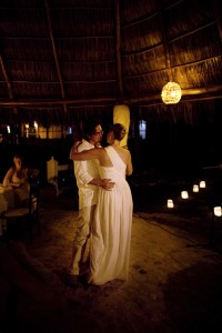 couple dancing on the beach in Mexico photo by Kate Harrison