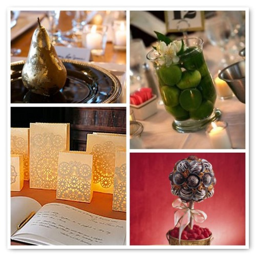 inexpensive centerpiece ideas, fruit centerpiece, lantern centerpiece, chocolate truffle topiary, diy centerpieces