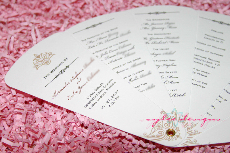 Diy wedding ideas and tutorials for Diy wedding program fan template