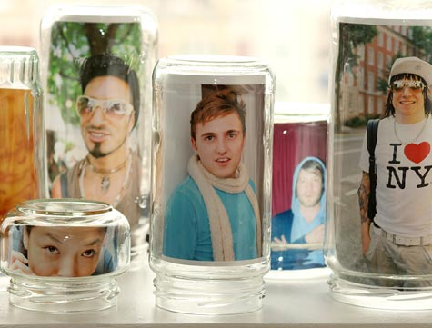 wedding photo jar frames