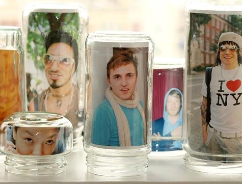 wedding photo jar frames